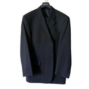 Jones New York Blue 100% Wool Suit, 44R 38